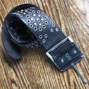Calvin Klein   Leather Studded Belt